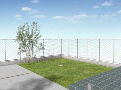 ブルックリンスタイル定番のスチールを使ったフェンス! クールな雰囲気を実現。