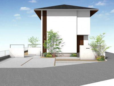 テーマは『建物の装飾に寄り添える外構』。 シンプルデザインでセンス良く魅せる!